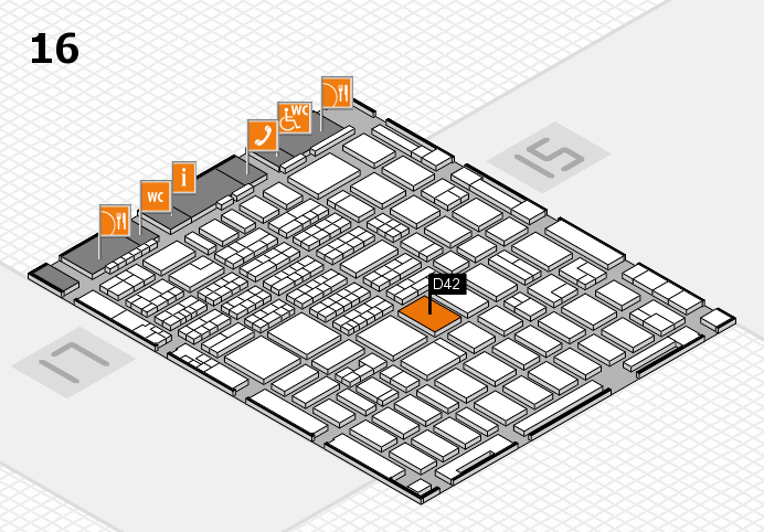 MEDICA 2016 hall map (Hall 16): stand D42
