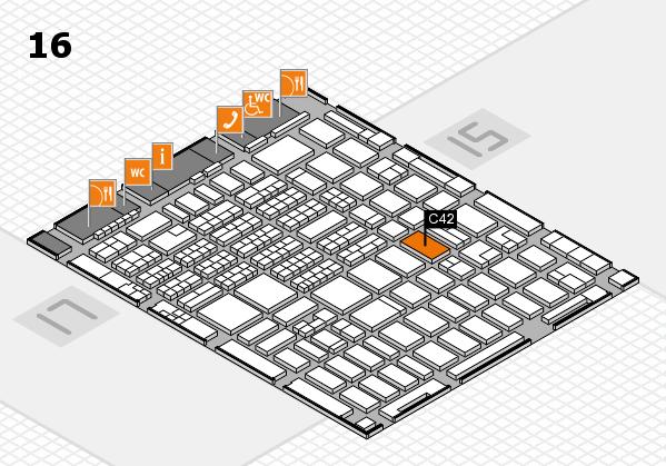 MEDICA 2016 hall map (Hall 16): stand C42