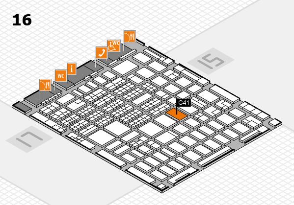 MEDICA 2016 hall map (Hall 16): stand C41