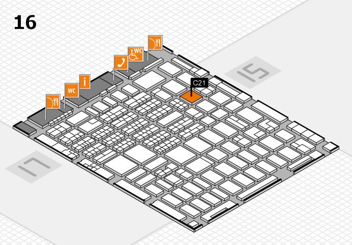 MEDICA 2016 hall map (Hall 16): stand C21