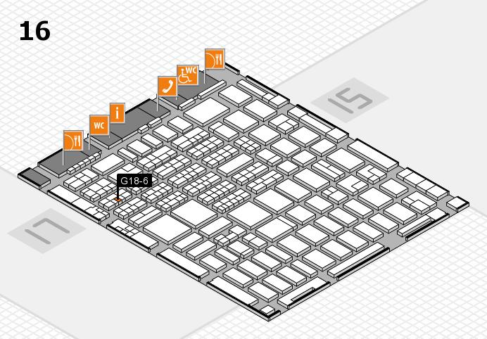 MEDICA 2016 hall map (Hall 16): stand G18-6