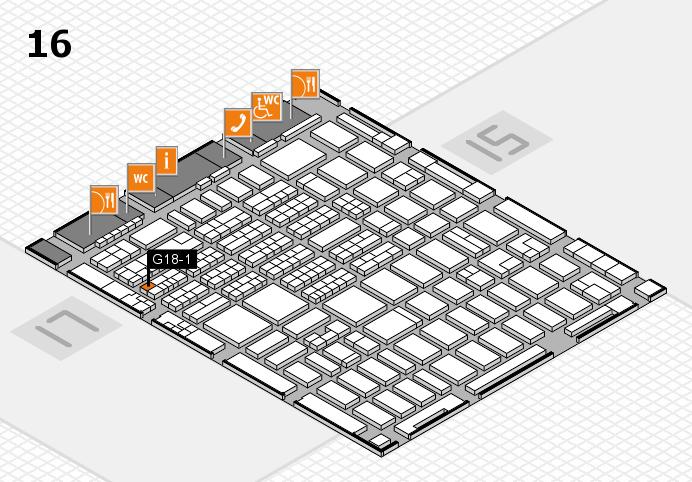 MEDICA 2016 hall map (Hall 16): stand G18-1