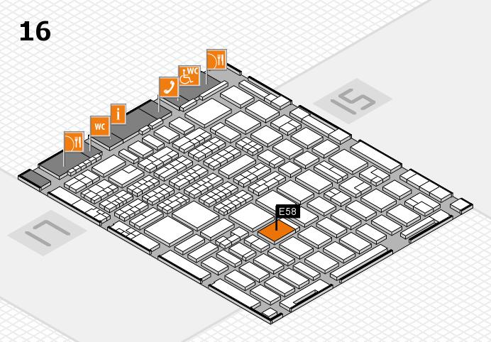 MEDICA 2016 hall map (Hall 16): stand E58