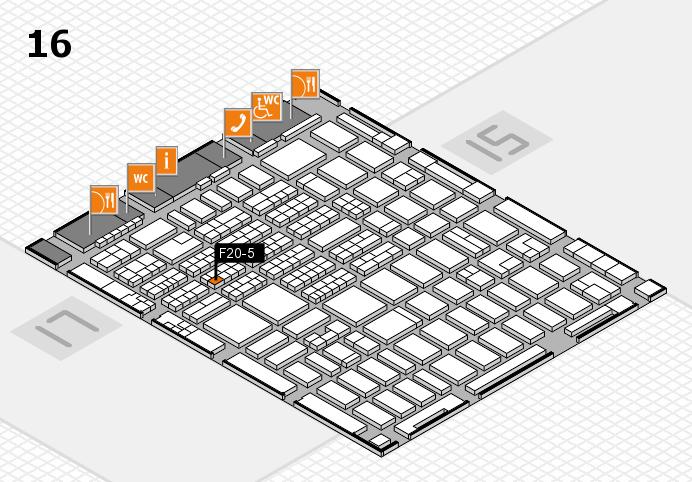 MEDICA 2016 hall map (Hall 16): stand F20-5