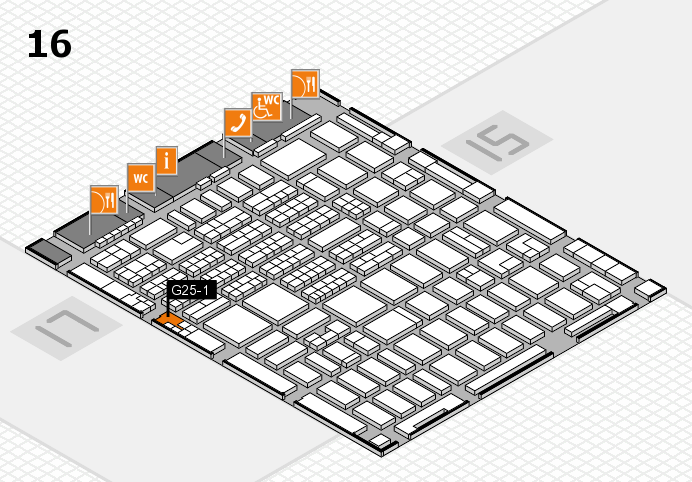 MEDICA 2016 hall map (Hall 16): stand G25-1