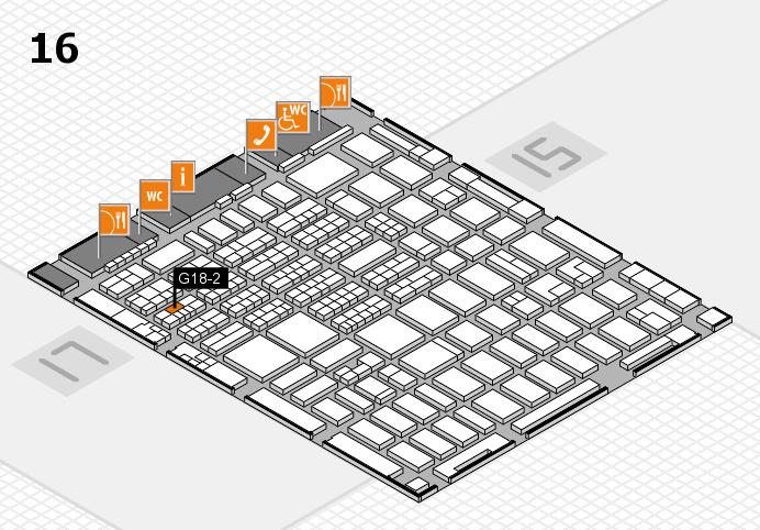 MEDICA 2016 hall map (Hall 16): stand G18-2