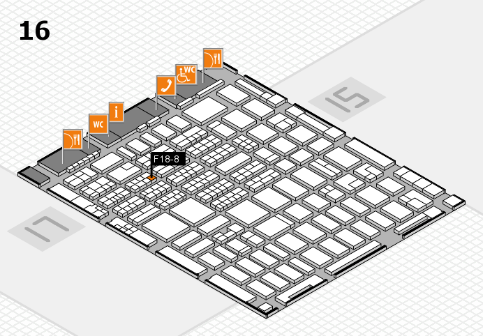 MEDICA 2016 hall map (Hall 16): stand F18-8
