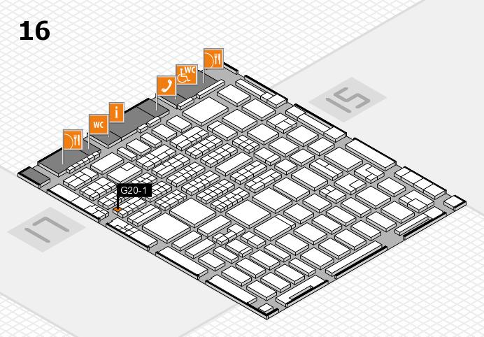 MEDICA 2016 hall map (Hall 16): stand G20-1