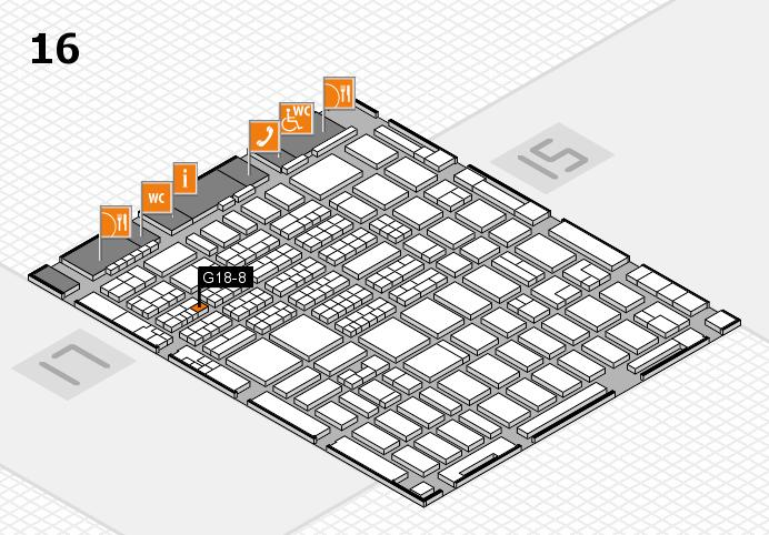 MEDICA 2016 hall map (Hall 16): stand G18-8