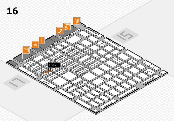 MEDICA 2016 hall map (Hall 16): stand G20-3