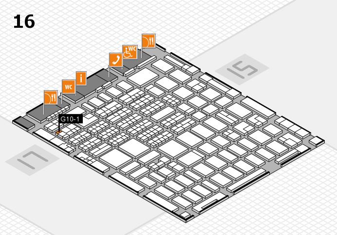MEDICA 2016 hall map (Hall 16): stand G10-1