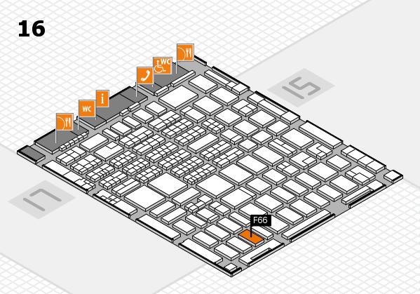 MEDICA 2016 hall map (Hall 16): stand F66