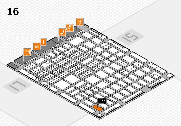 MEDICA 2016 hall map (Hall 16): stand G66
