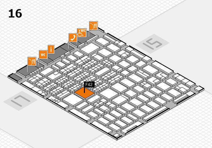 MEDICA 2016 hall map (Hall 16): stand F42