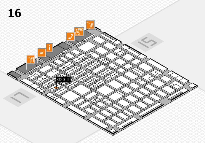 MEDICA 2016 hall map (Hall 16): stand G20-6