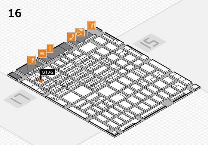 MEDICA 2016 hall map (Hall 16): stand G10-2