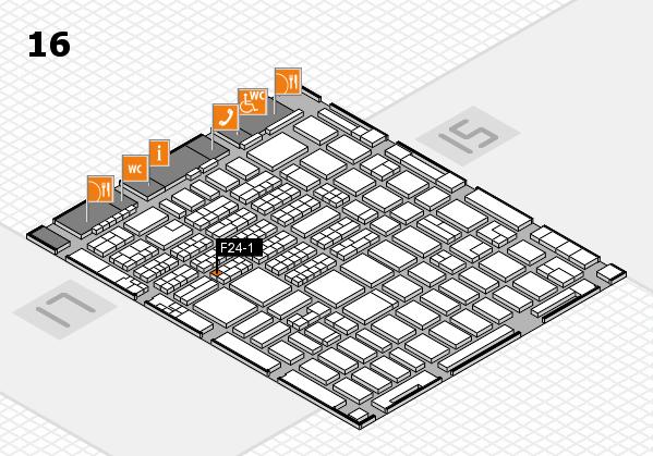 MEDICA 2016 hall map (Hall 16): stand F24-1