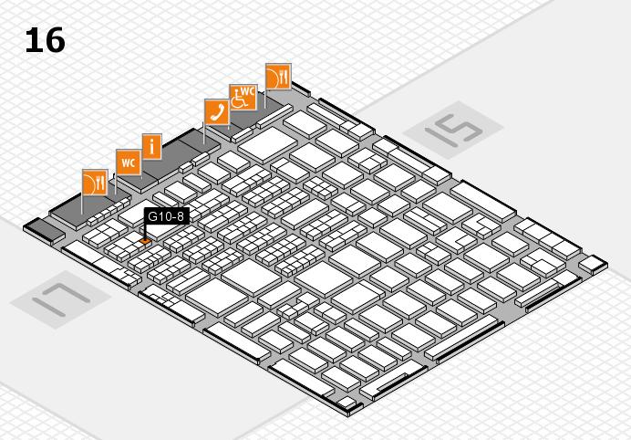 MEDICA 2016 hall map (Hall 16): stand G10-8