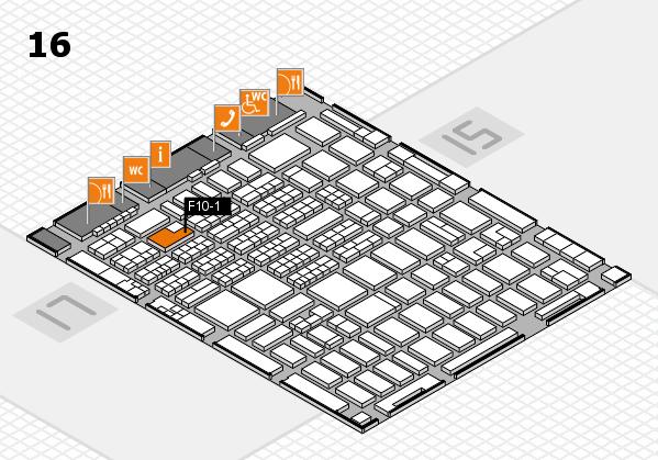 MEDICA 2016 hall map (Hall 16): stand F10-1