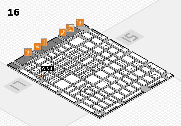 MEDICA 2016 hall map (Hall 16): stand G18-4