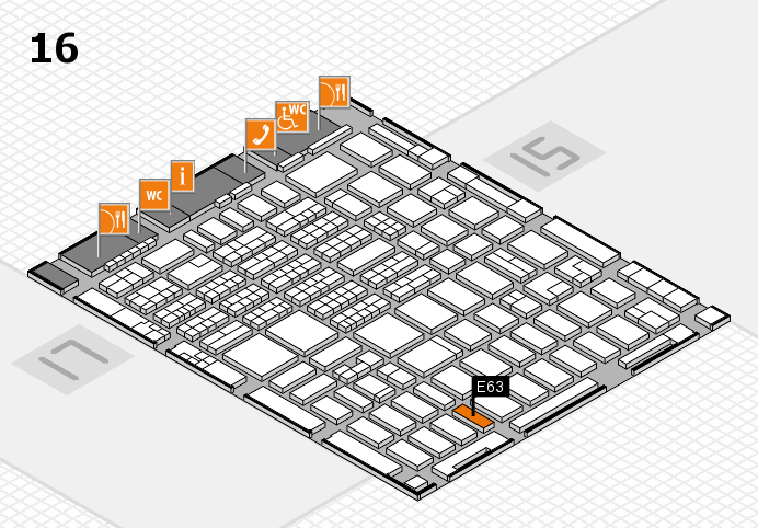 MEDICA 2016 hall map (Hall 16): stand E63