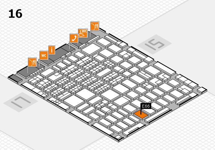 MEDICA 2016 hall map (Hall 16): stand E66