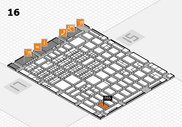 MEDICA 2016 hall map (Hall 16): stand F65