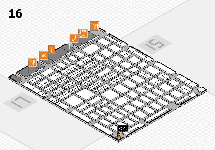 MEDICA 2016 hall map (Hall 16): stand G79