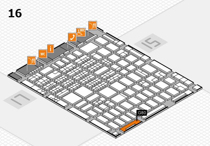 MEDICA 2016 hall map (Hall 16): stand G80