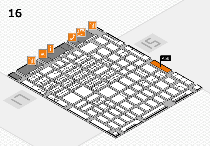 MEDICA 2016 hall map (Hall 16): stand A56