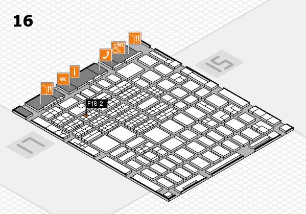 MEDICA 2016 hall map (Hall 16): stand F18-2