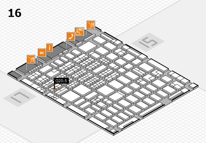 MEDICA 2016 hall map (Hall 16): stand G20-5