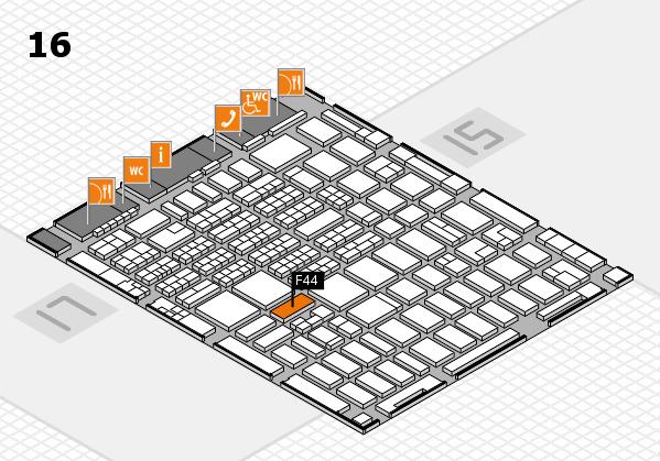 MEDICA 2016 hall map (Hall 16): stand F44