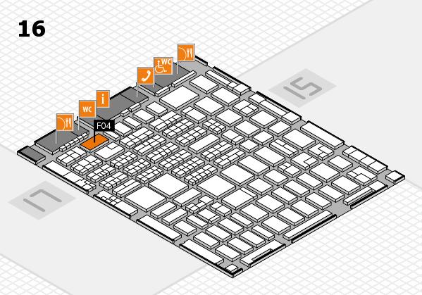 MEDICA 2016 hall map (Hall 16): stand F04