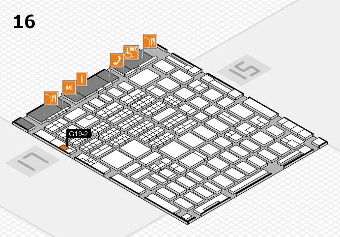 MEDICA 2016 hall map (Hall 16): stand G19-2