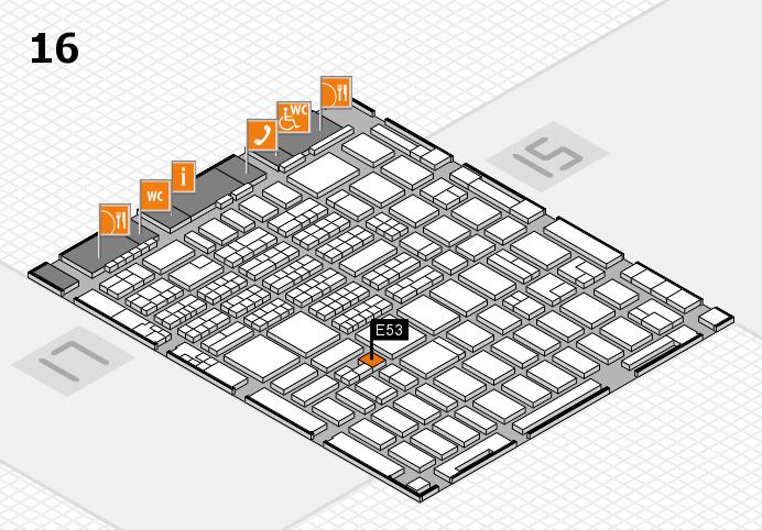 MEDICA 2016 hall map (Hall 16): stand E53