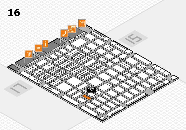 MEDICA 2016 hall map (Hall 16): stand F57