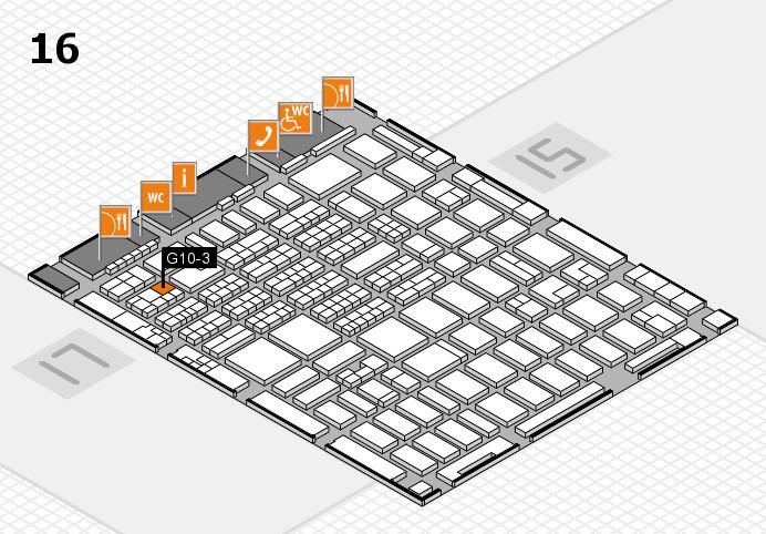 MEDICA 2016 hall map (Hall 16): stand G10-3