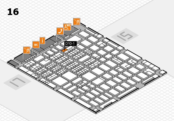 MEDICA 2016 hall map (Hall 16): stand D10-1