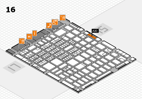 MEDICA 2016 hall map (Hall 16): stand A30