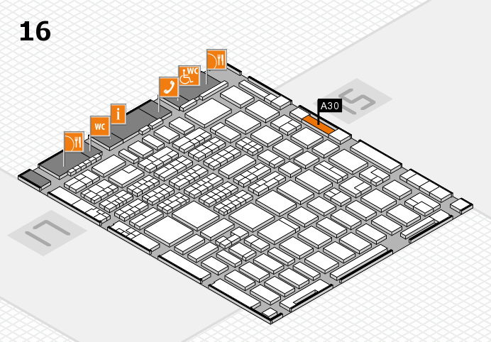 MEDICA 2016 hall map (Hall 16): stand A30