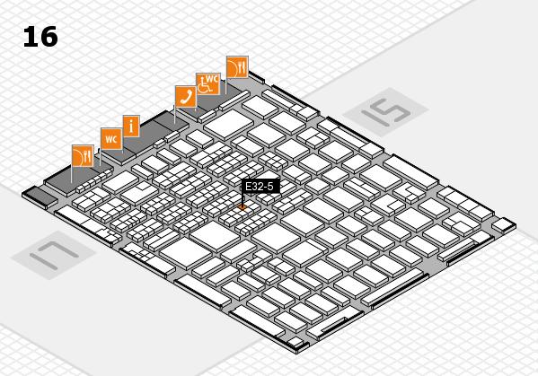 MEDICA 2016 hall map (Hall 16): stand E32-5