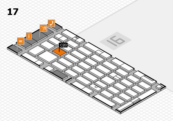 MEDICA 2016 hall map (Hall 17): stand C20