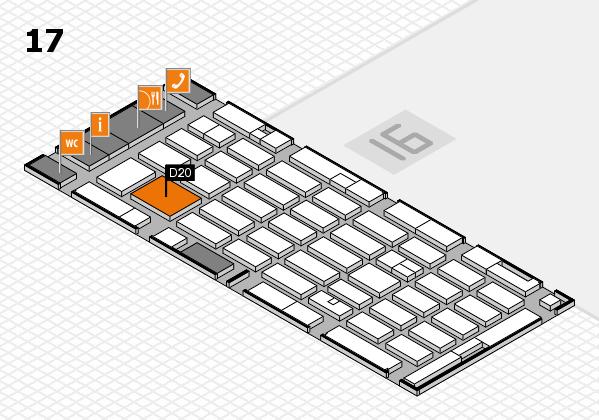 MEDICA 2016 hall map (Hall 17): stand D20