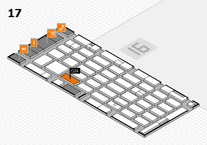 MEDICA 2016 hall map (Hall 17): stand D24