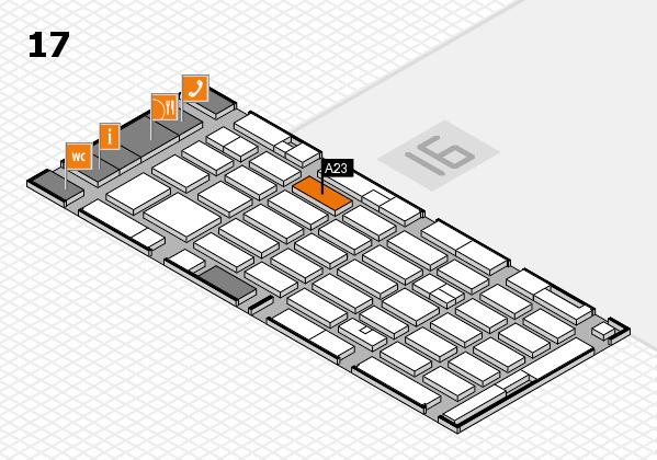 MEDICA 2016 hall map (Hall 17): stand A23