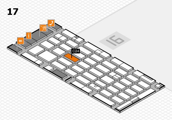 MEDICA 2016 hall map (Hall 17): stand C24