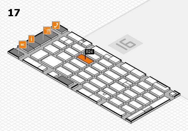 MEDICA 2016 hall map (Hall 17): stand B24