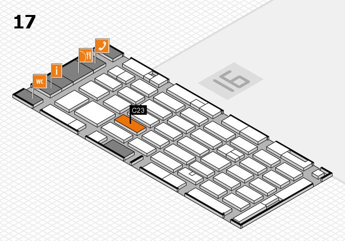 MEDICA 2016 hall map (Hall 17): stand C23