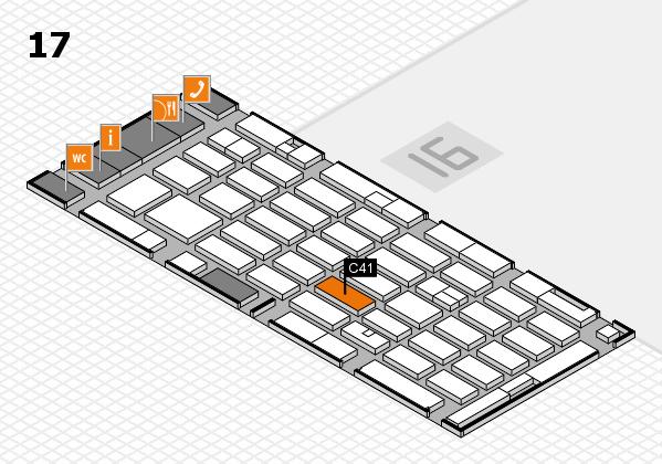 MEDICA 2016 hall map (Hall 17): stand C41